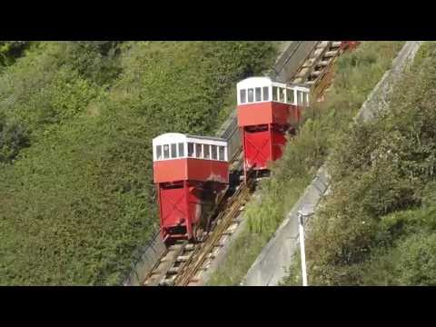 Leas Lift, a water and gravity powered funicular railway in Folkestone