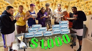 IMPOSSIBLE Cracker Eating Challenge w/ 2HYPE | Winner Gets $1000!