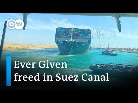 Giant Suez Canal ship freed | DW News