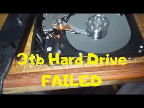 Seagate barracuda  3tb hard drive Failed