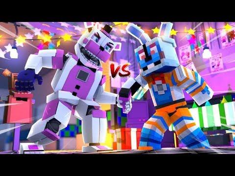 Funtime Freddy VS Funtime Bonnie! Minecraft FNAF Roleplay
