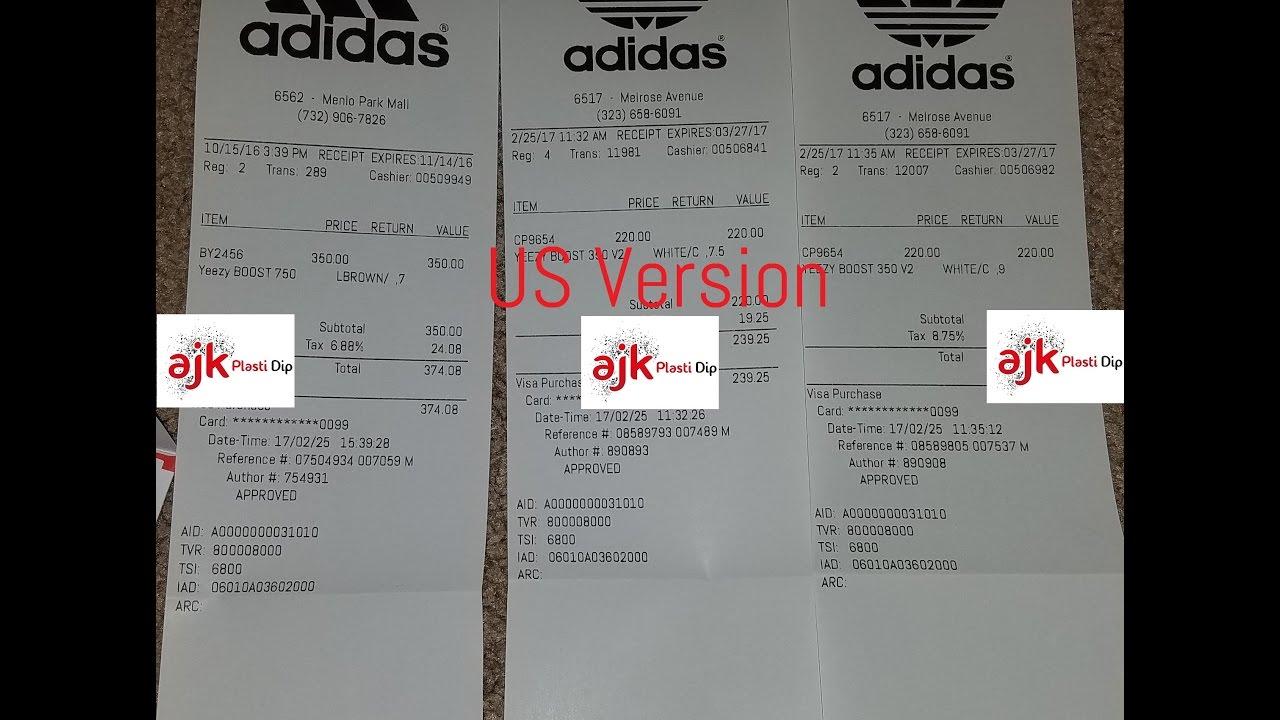 ca27e206f Adidas Yeezy Boost 350 v2 Zebra RECEIPTS FOR SALES - YouTube
