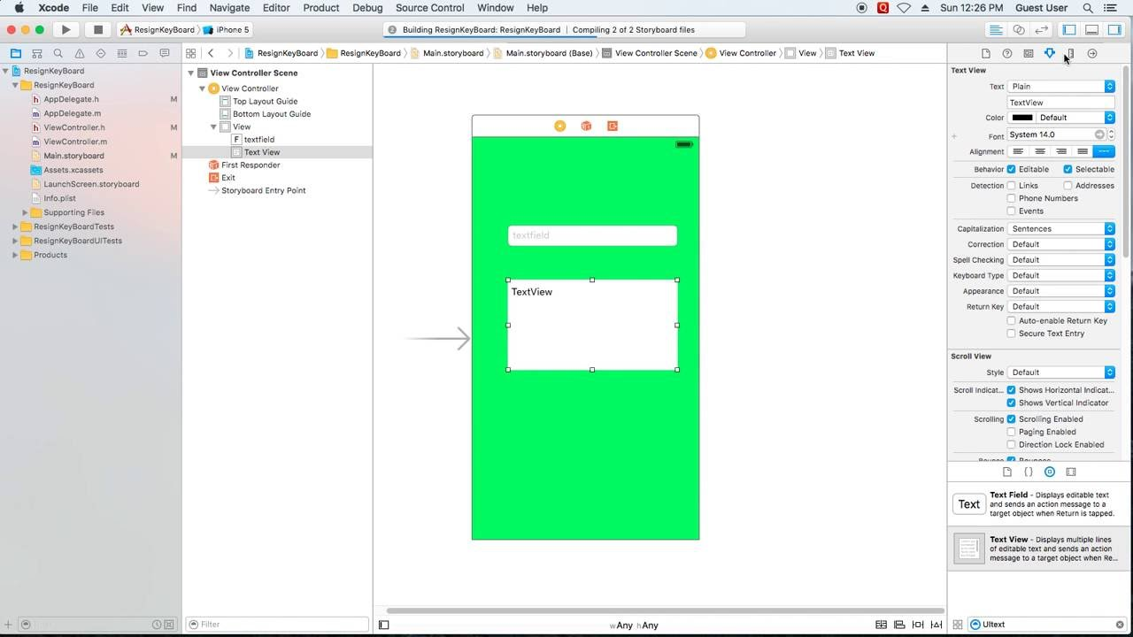 Objective C : How to resign keyboard from UITextfield and UITextview ...