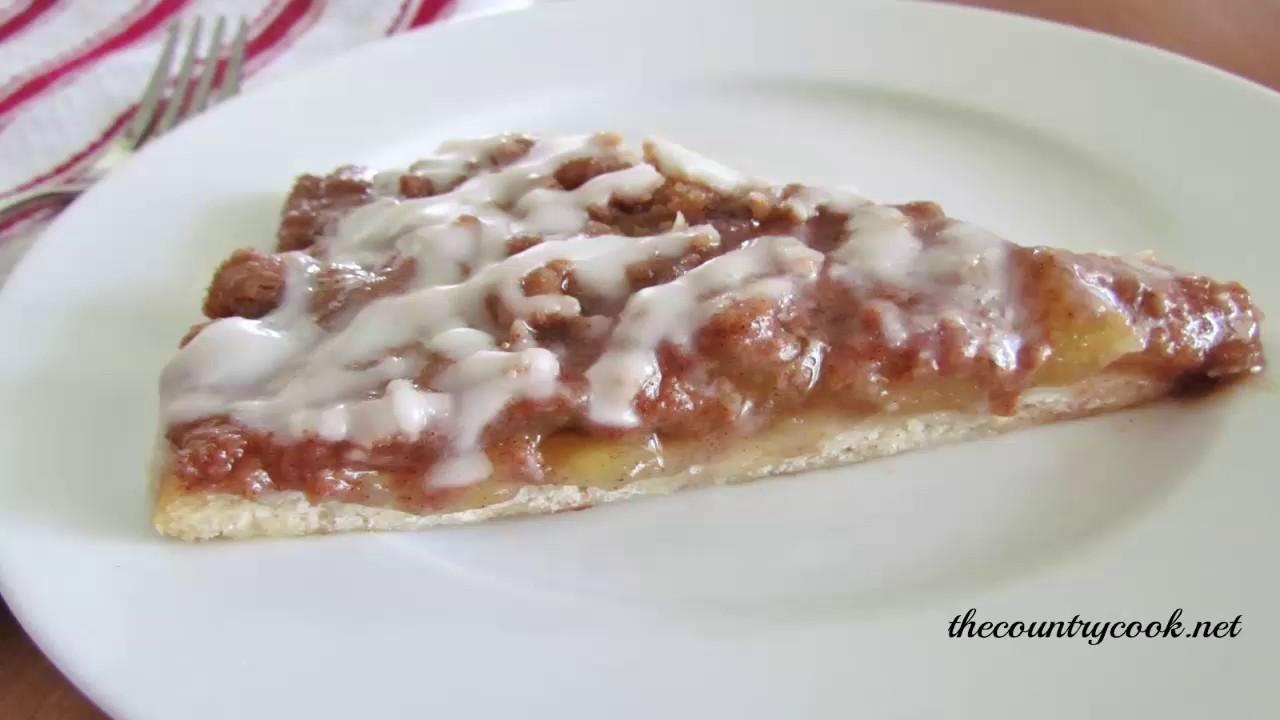 Pizza Hut Apple Pie >> Pizza Hut Dessert Pizza Youtube