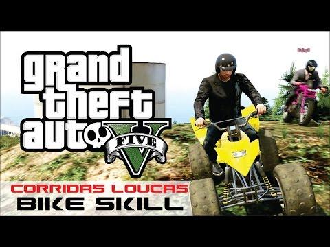 GTA V - Corridas Malucas - Bike Skill - HueHueBr