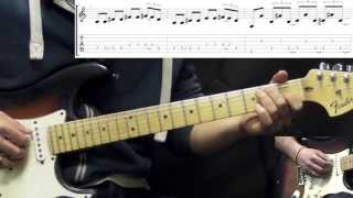 Stevie Ray Vaughan - Hideaway - Blues Guitar Lesson Part 1 (with Tabs)