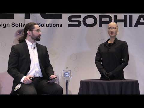 Sophia from Hanson Robotics talks with Shawn 2018.03.21