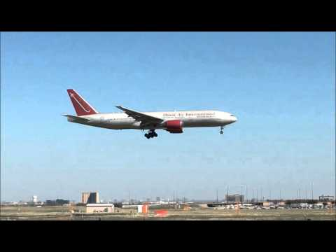 Dallas/Fort Worth airport landing - Omni Air International