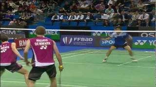 SF - MD - M. Boe/C. Mogensen vs Jung Jae Sung/Lee Yong Dae - Yonex Badminton French Open 2011