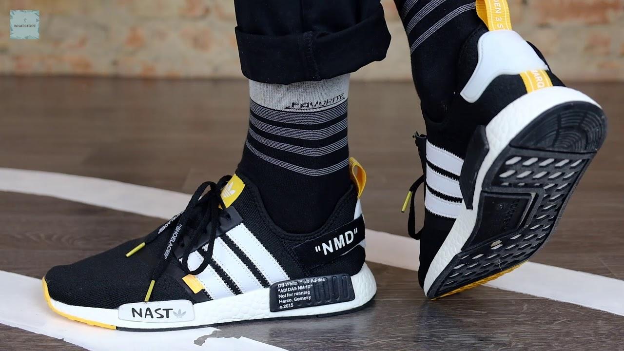 Adidas NMD Off White Nast Black - YouTube