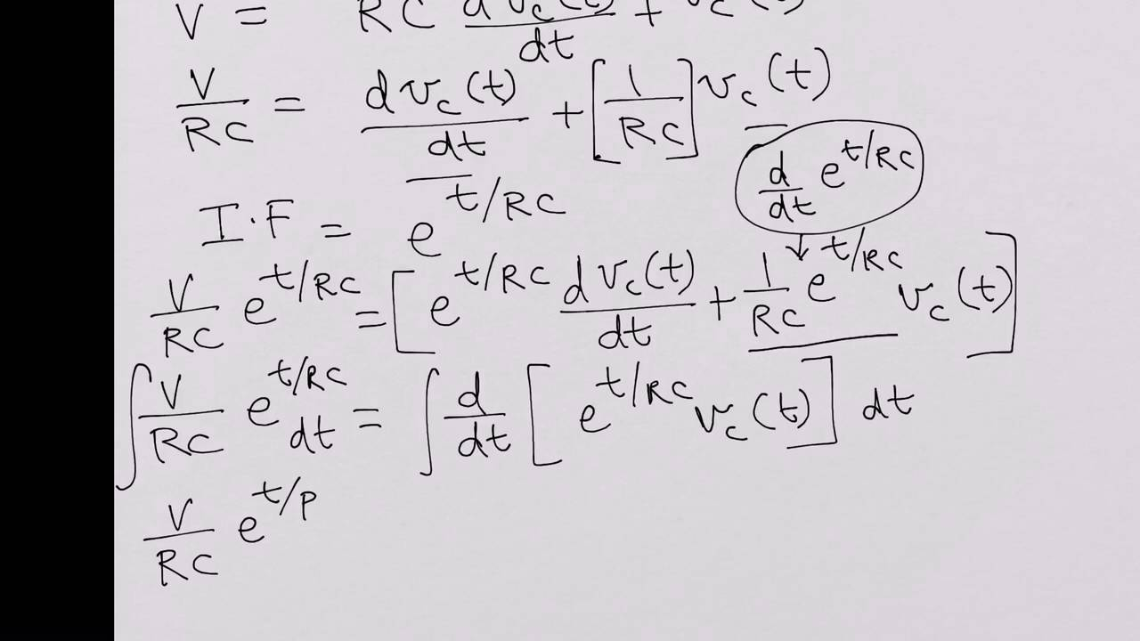 response of an rc circuit