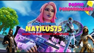LIVE FORTNITE BATTLE ROYALE CONCOURS CREATOR PART PERSO SKIN A WINNER 8:30 p.m.