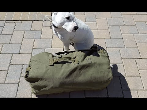 Review of the Military Issued Duffel Bag or Sea Bag - YouTube bcfb9b94f93