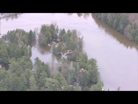 Aerial View Of Bracebridge Flooding