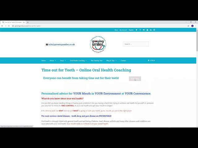 How to book online oral health coaching