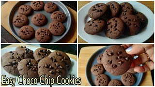 Choco Chips Cookies  Easy Choco Chips Cookies Recipe Without Egg  Easy Eggless Cookies Recipe