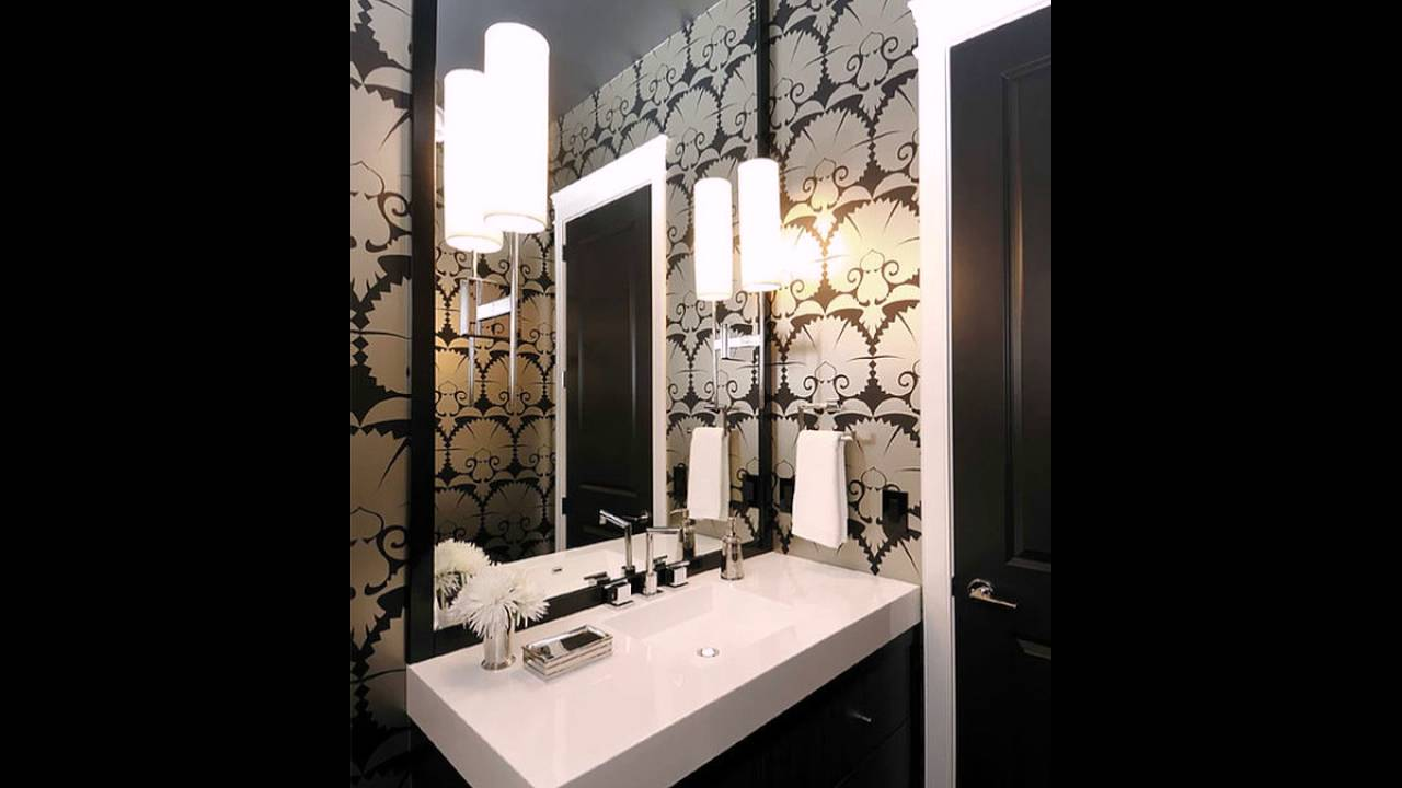 art deco tapete f r das badezimmer youtube. Black Bedroom Furniture Sets. Home Design Ideas
