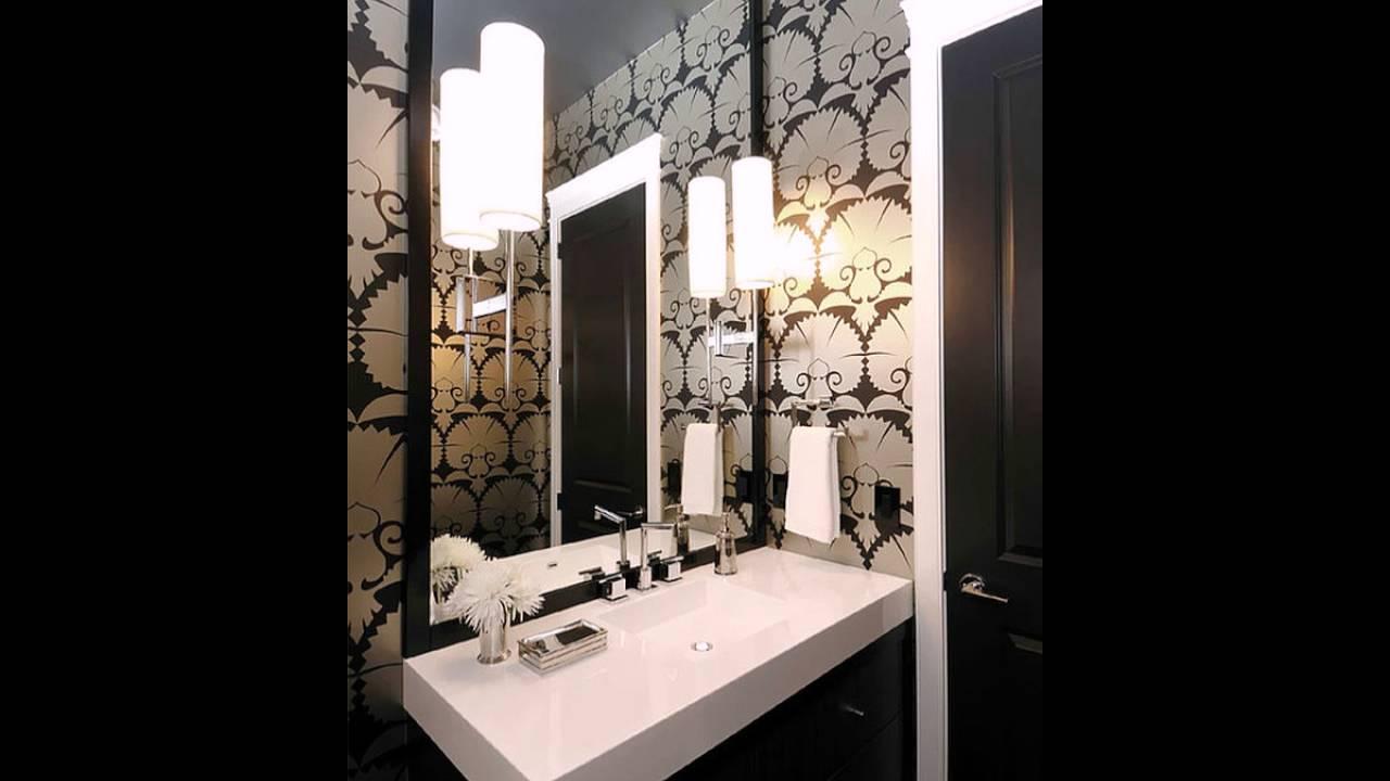Art Deco Tapete Fur Das Badezimmer Youtube