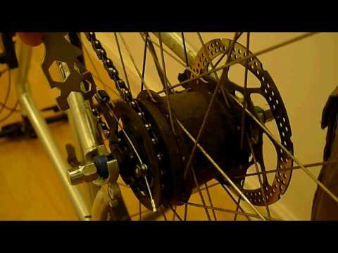 How to remove a Shimano Nexus or Alfine hub equipped wheel from your bike
