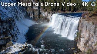 Upper Mesa Falls Drone Video - 4K