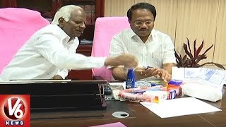 Telangana Govt To Issue Health Cards And Hygiene Kits For Students | V6 News
