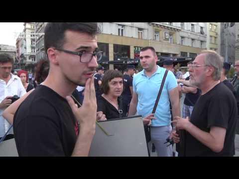 Rival Protests In Belgrade Ahead Of Srebrenica Anniversary