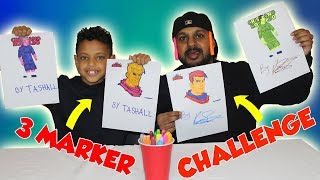 3 MARKER CHALLENGE!! FORTNITE AND CRISTIANO RONALDO EDITION!! AND SHOUTOUTS!!