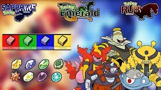EMERALD/RUBY/SAPPHIRE - FAZENDO PEDRAS EVOLUTIVAS COM SHARDS! (GBA)
