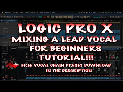 MIXING RAP & HIP HOP VOCALS THE EASY WAY || LOGIC PRO X 10.4.5 FREE LOGIC TEMPLATE