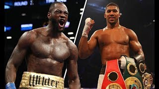 Anthony Joshua Shows The World His Fear Of Deontay Wilder