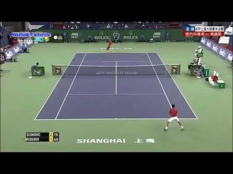 Roger Federer vs Novak Djokovic Shanghai Rolex Master 2014 Highlights HD