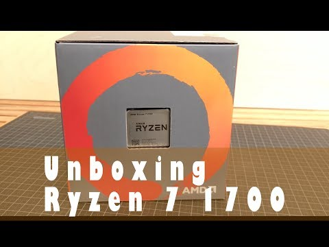 Unboxing Ryzen 7 1700 with Wraith spire cooler, and a little flashback.