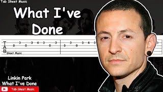 What I've Done Guitar Tutorial - - - - - - - - - - - - - - - - - - ...
