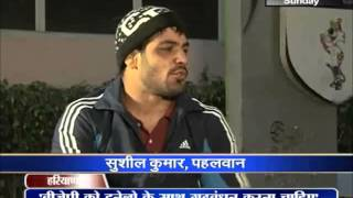Sushil Kumar Wrestler live on janta tv, Haryana