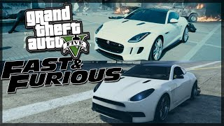 Fast and Furious 7 - Shaw's White Jaguar F type - Gta 5 Car Build