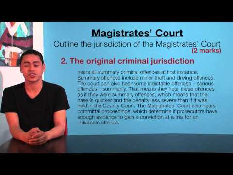 VCE Legal Studies - Magistrates' Court Jurisdiction