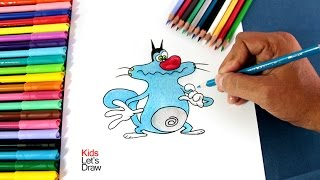Cómo dibujar a OGGY (Oggy y las Cucarachas) | How to draw Oggy (Oggy and the Cockroaches)