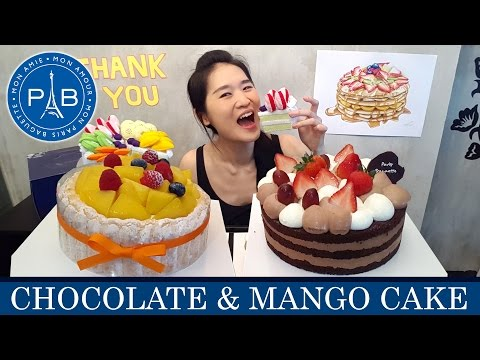 Paris Baguette Cakes (Eating Show - Mukbang) Peggie Eats S02E24