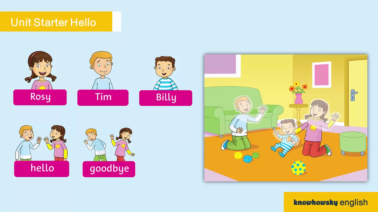 Family and Friends Grade 1 Unit Starter Hello Part 1 - YouTube