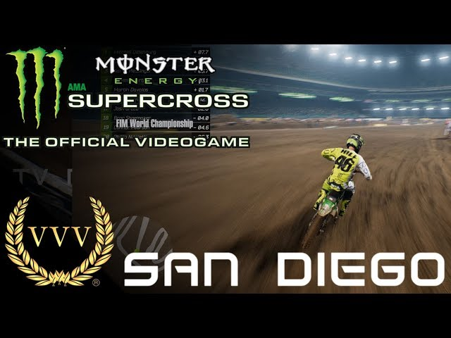Monster Energy Supercross Gameplay San Diego