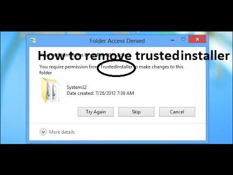 How to run programs as trustedinstaller to write to certain.