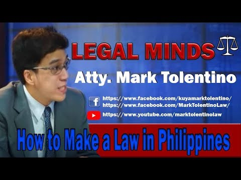 how to make a law in philippines