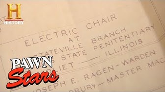 Pawn Stars: RARE, ORIGINAL& EXPENSIVE Blueprint for 1920s Electric Chair (Season 8) | History