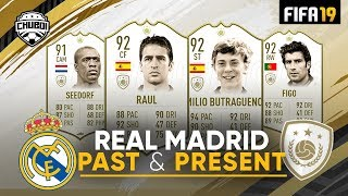 Real Madrid Past & Present Squad w/ Raul, Figo, Seedorf, R9 | FIFA 19