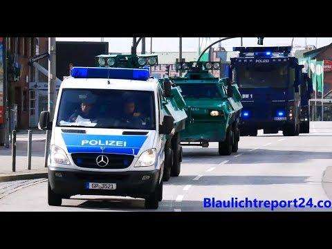 [G20 Hamburg] SEK + GSG9 + BKA + Secret Service VIELE VIP ESKORTEN UND MASSIG VIEL POLIZEI