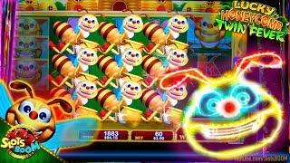 Lucky Honeycomb Twin Fever LIVE  BONUSES BIG WIN 5c Konami Video Slot