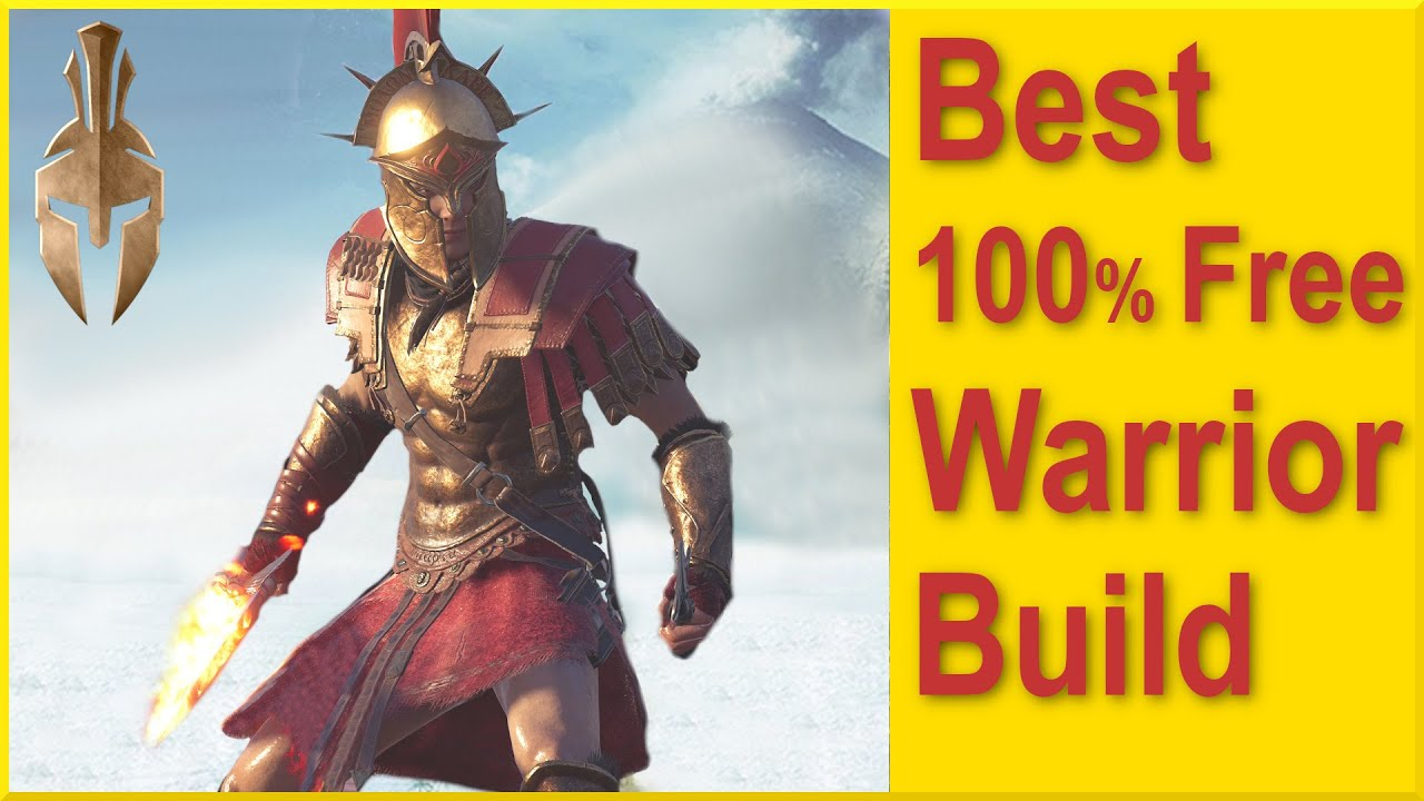 Assassins Creed Odyssey - Best Free Legendary Warrior Build - Best Base Game Set with 100% Health
