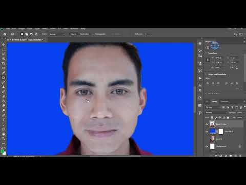 Cara Edit Foto Pas KTP Di Photoshop - YouTube