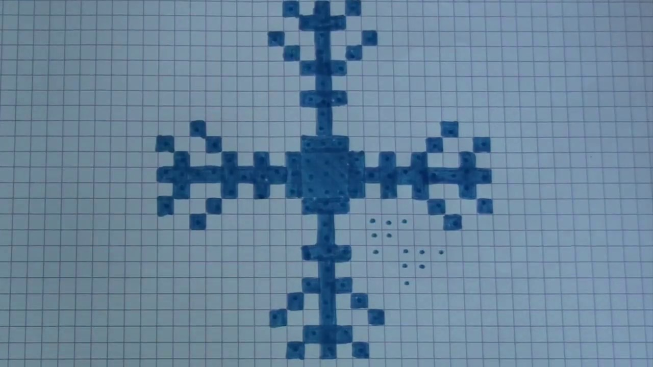 Comment dessiner un flocon de neige pixel art youtube - Comment dessiner un flocon de neige facile ...
