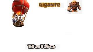 Clash Of Clans- Estratégia de guerra com ggs e balão (cv6)